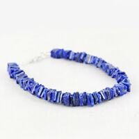 Lowest Price 126.00 Cts Earth Mined Blue Lapis Lazuli Untreated Beads Bracelet