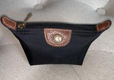 New Longchamp Pouch Le Pliage Mini Zip Coin Pouchette Black Pouch (C7)