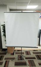 Da-lite flyer projector screen on Tripod 50 x 50. Good condition. Still w/ box