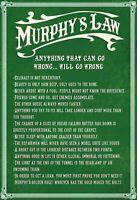 Murphy's Law Blechschild Schild gewölbt Metal Tin Sign 20 x 30 cm FA0118
