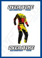 COMBO COMPLETO CROSS THOR S7S PULSE JERSEY L PANT 48 RED BLACK YELLOW OFF ROAD