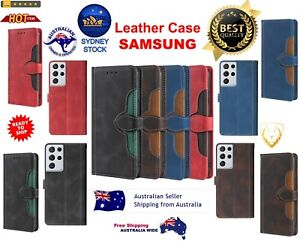 Leather Case with Holder & Card Slots & Wallet For Samsung Galaxy High Quality !