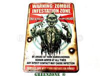 Warning Zombie Infestation Wooden Door Plaque/ Sign for Children's/ Kids Room