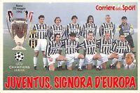 Cartolina Calcio Juventus signora d'Europa Roma 1966