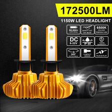 2X H1 1150W LED Headlight Bulb High Power Low Beam Driving Globes White VS Xenon