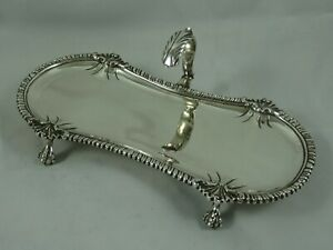 SUPERB, GEORGE III solid silver SNUFFERS TRAY, 1769, 175gm