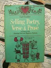 Selling Poetry, Verse & Prose (Carl Goeller, 1967 HCDJ) Revised Edition