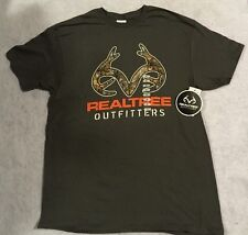 NEW Men's Realtree Outfitters T Shirt Gray M L  NWT Free Shipping