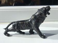 Solid Metal Black Tiger Vintage Ornament Figure