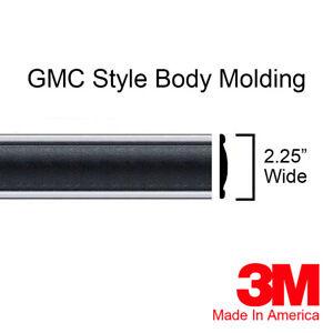 "GMC C/K Truck Suburban Black Side Body Trim Molding 2.25"" Wide 80"" By Brickyard"