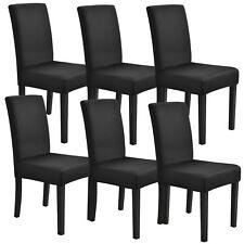 [neu.haus]® 6x Stuhlhusse 42-53cm Schwarz Stretchhusse Stuhlbezug Stuhlüberzug