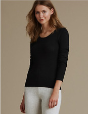 Ladies Two Pack Thermal Pointelle Long Sleeve Tops. Three Colours. Sizes 6-22.