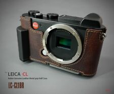 LIM'S Genuine Leather Camera Half Case Dovetail Plate Grip for Leica CL / BR