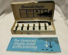 Vintage Osmiroid Lettering Pen set .w/ 6 nibs