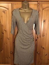 BARBARA HULANICKI Designer Elegant Evening Cold Shoulder Dress in Size 12