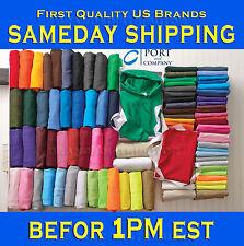 50 Port & Company PC54 Plain Colors Blank T-Shirt  S-XL Lot Wholesale Bulk mix