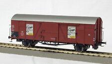"""48699 BRAWA Gedeckter Güterwagen Glr 22 """"Goggo Motorroller"""" H0"""