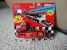 RARE 1995 EDITION BILL ELLIOTT MCDONALDS RACING CHAMPIONS TRANSPORTER W/CAR-NIP!