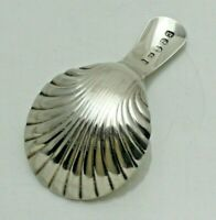 1805 Georgian Antique Solid Silver Shell Caddy Spoon (1751-A-KWY)