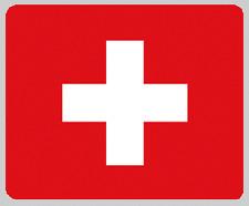 """Blanket Fleece Throw National Flag Switzerland 50""""x60"""" NEW w/ protective sleeve"""