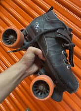 🔥Black Gtx-500 Quad Roller Speed Skates 7 Women's 6 Men's Derby Rollerskates
