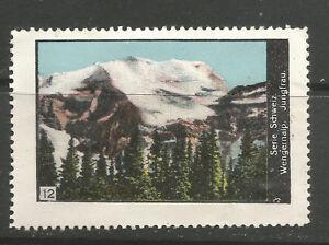 Switzerland poster stamp/label (#12 Wengernalp & Jungfrau)