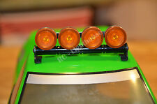 RC LED Truck Light bar with Orange Lenses - 5 flashing modes - Aluminum-FZORO