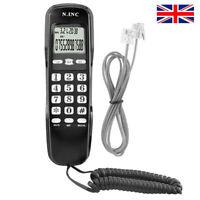 Single Corded Phone Table Desktop Landline Telephone Dual caller ID Call Back UK