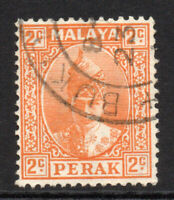 Perak (Malaya) 2 Cent Stamp c1938-41 Used (5134)