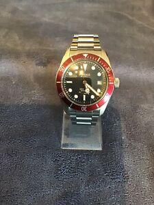 Parnis Black Bay Homage, Burgundy Bezel Automatic Watch