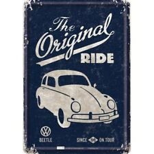 BLECHSCHILD 10225 - VOLKSWAGEN / VW BEETLE /KÄFER THE ORIGINAL RIDE - 10 x 14 cm