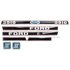 Tractor Decal set for a Ford 3910  Aftermarket Replacement HD hood decals set