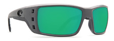 COSTA DEL MAR PERMIT POLARIZED SUNGLASSES PT98 OGMP MATTE GRAY/GREEN 580P LENS