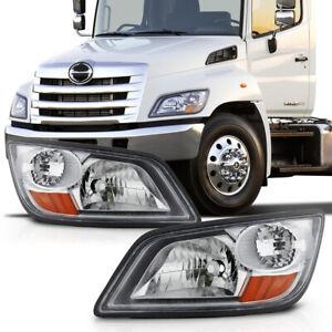 [Left+Right Side] Headlight For 06-14 Hino 238 258 268 338 / 06-10 145 165 185
