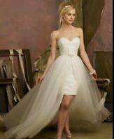 abnehmbare Schleppe für Brautkleid Tüll Unterrock Reifrock 220 cm 4 lagig SL01