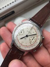 VINTAGE WITTNAUER STAINLESS STEEL CHRONOGRAPH mechanical WATCH