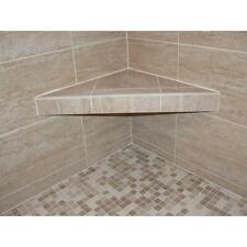 24/30-inch Shower Corner Triangle Seat Support Shelf Bathroom Tile-Installation