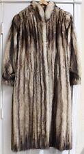Morris Kaye & Sons Full-Length Ladies Fur Coat Cream/Brown Tipped
