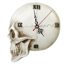 ALCHEMY SKULL WALL CLOCK, TEMPORE MORTIS, GOTHIC, MACABRE,  THE VAULT, SKELETAL