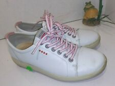 Ecco Biom White Leather Golf Shoes Spikeless Womens Size 38