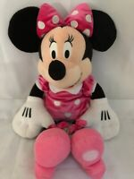 """Minnie Mouse Plush Disney Store Exclusive 18"""" Pink White Outfit Stuffed Animal"""
