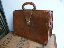 CHENEY TAN LEATHER VINTAGE BRIEF CASE