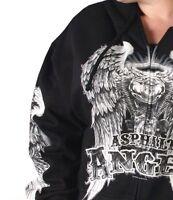 Motorcycle Hoodie Ladies Asphalt Angel Sweatshirt Biker New Black S M L XL 2X 3X