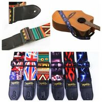 Nylon Guitar Strap for Acoustic Electric Bass Adjustable Soft Webbing Belt HMG0