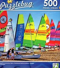 """Jigsaw Puzzle 500pc Colorful Catamarans Spain 18.25""""X11"""" NEW Nautical #TY65"""