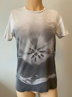 "All Saints Mens TShirt Size XS Short Sleeve White 19"" Vintage Graphic Top Small"
