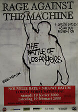 """RAGE AGAINST THE MACHINE Concert FOREST VORST NATIONAL"" Affiche originale 2000"