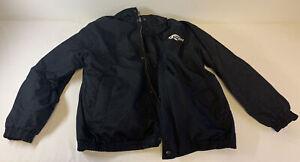 vintage PENSKE RACING black racing pit crew coat w/liner ~ size XL