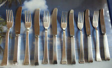 WMF 2500 -Art Deco -  Dessertbesteck - 6 Pers - 12 Teile  - Silber 90