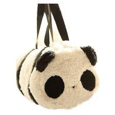 New Cute Soft Plush Panda Cylindrical Handbag Travel Storage Shoulder Baby Bag